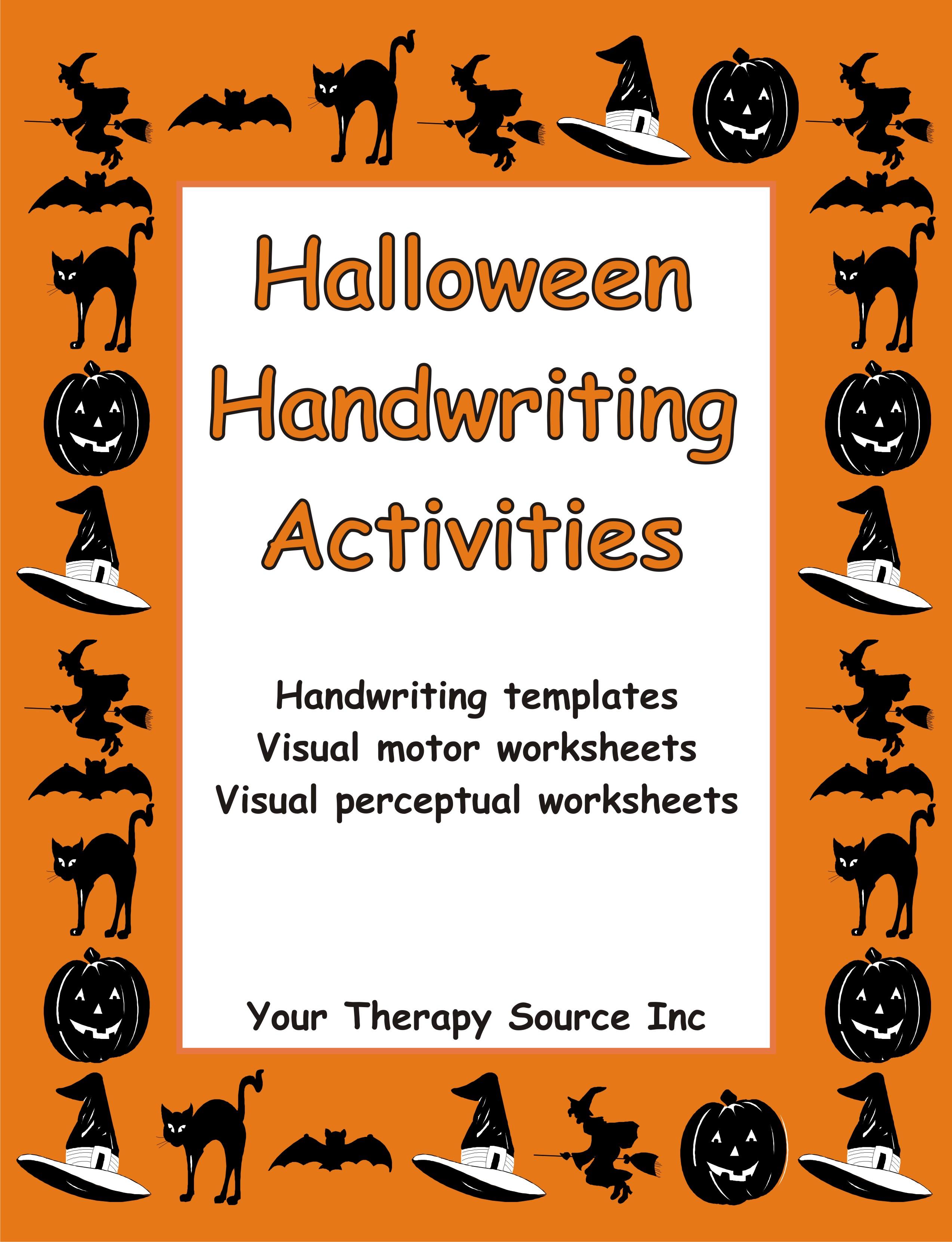 halloween handwriting activities ebooks education. Black Bedroom Furniture Sets. Home Design Ideas