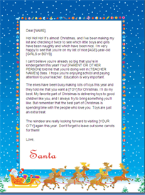 Christmas Letter from Santa - New Sibling (Sleigh Design) | Other Files | Documents and Forms