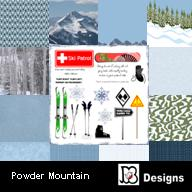 Powder Mountain Digiscrap Pack