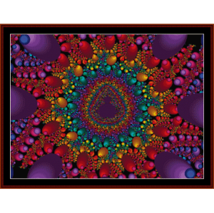 Fractal 142 cross stitch pattern by Cross Stitch Collectibles | Crafting | Cross-Stitch | Wall Hangings