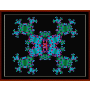 Fractal 150 cross stitch pattern by Cross Stitch Collectibles | Crafting | Cross-Stitch | Wall Hangings