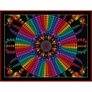fractal 151 cross stitch pattern by cross stitch collectibles