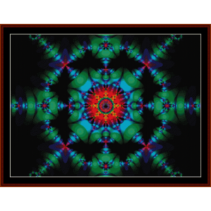 Fractal 153 cross stitch pattern by Cross Stitch Collectibles | Crafting | Cross-Stitch | Wall Hangings