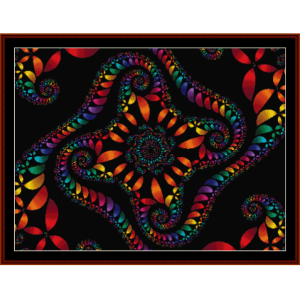 Fractal 154 cross stitch pattern by Cross Stitch Collectibles | Crafting | Cross-Stitch | Wall Hangings