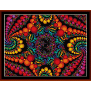 Fractal 156 cross stitch pattern by Cross Stitch Collectibles | Crafting | Cross-Stitch | Wall Hangings