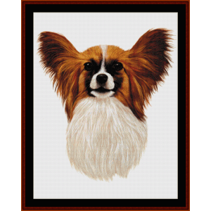 Papillon - Robt. J. May cross stitch pattern by Cross Stitch Collectibles | Crafting | Cross-Stitch | Wall Hangings