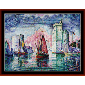 Port of La Rochelle - Signac cross stitch pattern by Cross Stitch Collectibles | Crafting | Cross-Stitch | Wall Hangings