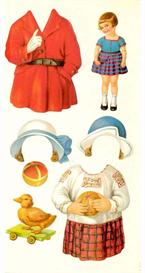 21 pages of vintage paper dolls