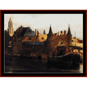View of Delft - Vermeer cross stitch pattern by Cross Stitch Collectibles | Crafting | Cross-Stitch | Wall Hangings
