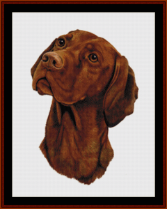 vizsla - robt. j. may cross stitch pattern by cross stitch collectibles