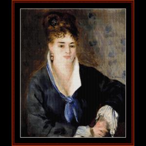Woman in Black - Renoir cross stitch pattern by Cross Stitch Collectibles | Crafting | Cross-Stitch | Wall Hangings