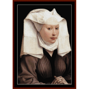 Woman with Gauze Headddress - van der Weyden cross stitch pattern by Cross Stitch Collectibles | Crafting | Cross-Stitch | Wall Hangings