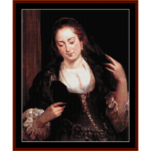 Woman with Mirror - Rubens cross stitch pattern by Cross Stitch Collectibles | Crafting | Cross-Stitch | Wall Hangings