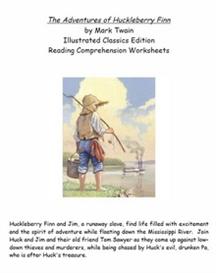 Huckleberry Finn Reading Comprehension Worksheets | eBooks | Education