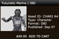Futuristic Marine | OBJ | Other Files | Patterns and Templates