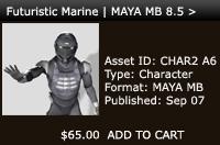 Futuristic Marine | Maya MB 8.5 > Rigged | Other Files | Patterns and Templates