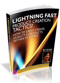 Lightning Fast Product Creation Tactics! - MRR | eBooks | Business and Money