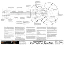 Grand Auditorium Acoustic Guitar Plans | Other Files | Patterns and Templates