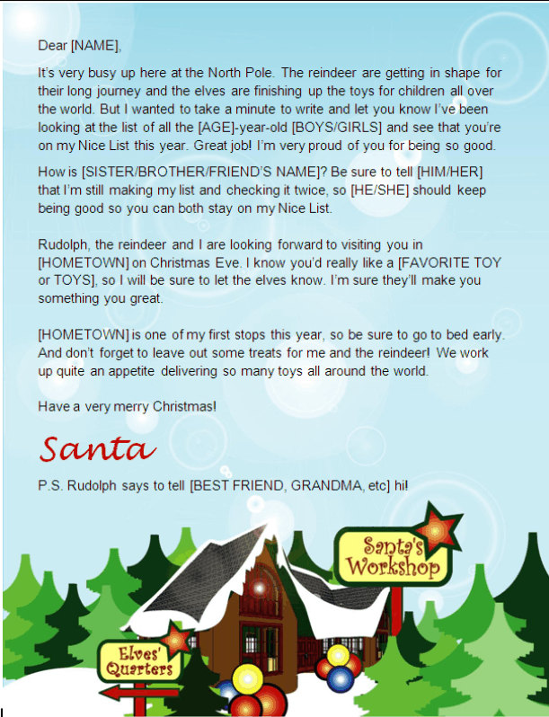 Santa letter template north pole design other files patterns and santa letter template north pole design other files patterns and templates spiritdancerdesigns Gallery
