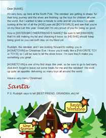 santa letter template-north pole design