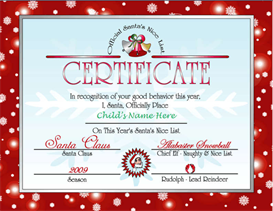 Santa's Nice List Certificate - Red | Other Files | Patterns and Templates