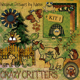 Crazy Critters by KDK