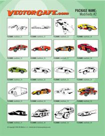 Modifieds Vector Clip Art #2 | Other Files | Clip Art