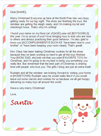 christmas letter from santa - snowfriends