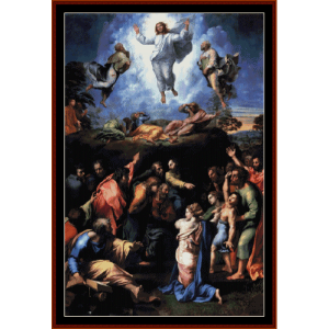 The Transfiguration II - Raphael cross stitch pattern by Cross Stitch Collectibles | Crafting | Cross-Stitch | Wall Hangings