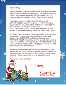 Santa Letter to Print - Santa with Blue Border | Other Files | Patterns and Templates