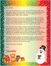 Letter from Santa - Snowman Gifts Design | Other Files | Patterns and Templates