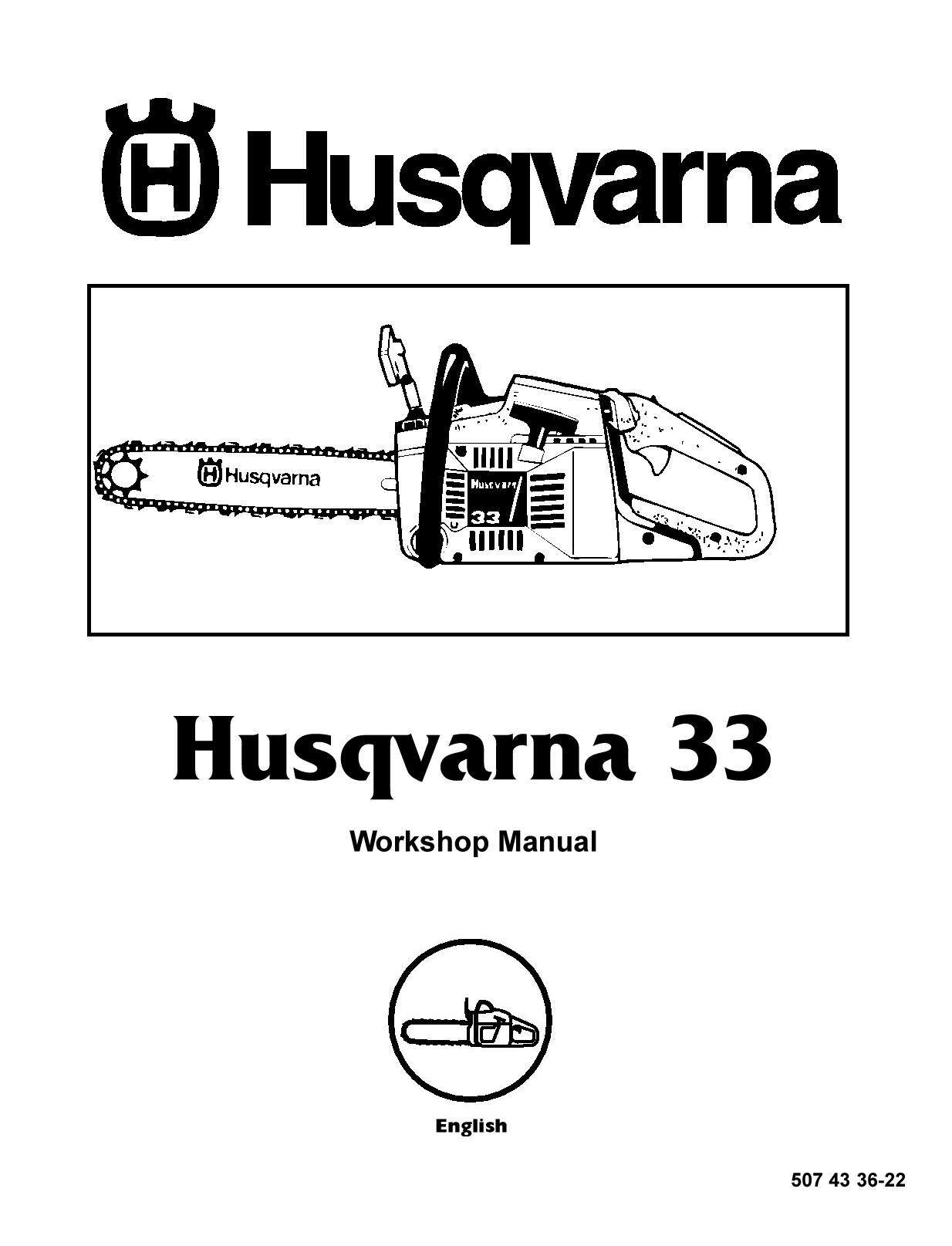 Husqvarna Chainsaw Workshop Manual Model 33 Manual Guide