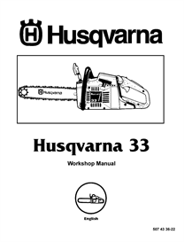 husqvarna 33 chainsaw workshop  manual