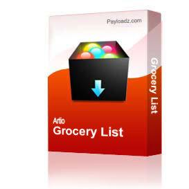 Grocery List | Other Files | Documents and Forms