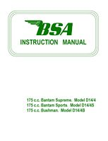 BSA Bantam 175 cc Bushman - Sports - Supreem D14 | eBooks | Automotive