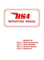 BSA Bantam manual BSA Bantam manual 175 cc D10 | eBooks | Automotive