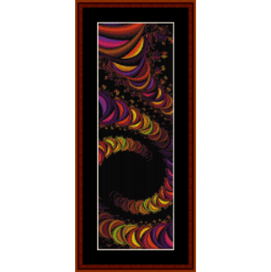 fractal 243 bookmark cross stitch pattern by cross stitch collectibles