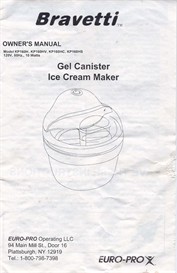 Bravetti Ice Cream Maker | Documents and Forms | Manuals