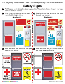 Esl / Safety Signs | Other Files | Documents and Forms