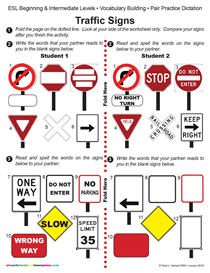 Esl / Traffic Signs | Other Files | Documents and Forms