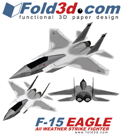 Fold3D F-15 EAGLE | eBooks | Arts and Crafts