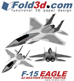 fold3d f-15 eagle