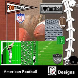 American Football Digiscrap Pack