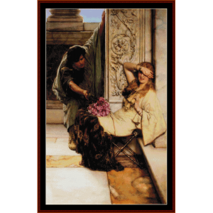 Shy - Alma Tadema cross stitch pattern by Cross Stitch Collectibles | Crafting | Cross-Stitch | Wall Hangings