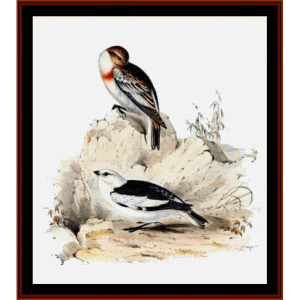Snow Bunting - Wildlife cross stitch pattern by Cross Stitch Collectibles | Crafting | Cross-Stitch | Wall Hangings