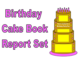 Birthday Cake Book Report Set | Other Files | Documents and Forms