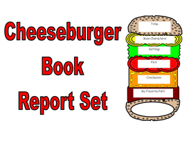 Cheeseburger Book Report Set