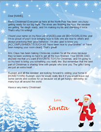Santa Letter to Print - Snowy Background | Other Files | Patterns and Templates
