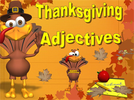Thanksgiving Adjectives Powerpoint | Other Files | Documents and Forms