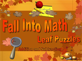Fall Into Math Puzzle Squares Powerpoint | Other Files | Documents and Forms